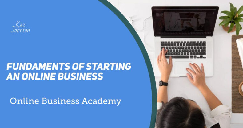 Fundaments of starting an online business